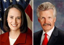 Lisa Madigan and James Glasgow