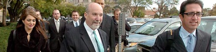Drew Peterson defense team arrives at the Will County courthouse