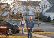Drew Peterson at home with Christina Raines