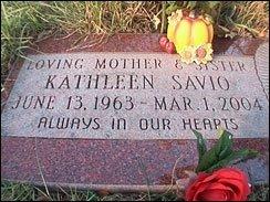 Kathleen Savio's grave marker