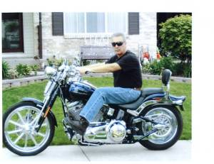 Drew Peterson's motorcycle for sale on e-bay