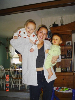 Stacy Peterson and her young children