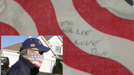 "Drew Peterson's bandana is signed to "" Ellie"" Brodsky"