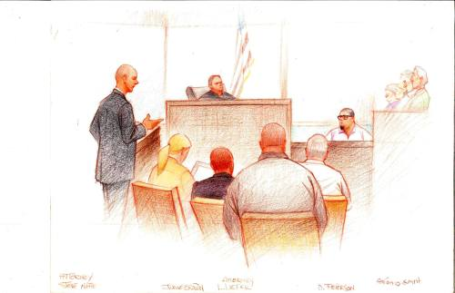 Illinois Assistant AG Steve Nate addresses the courtroom with  Antonio Smith on the stand.